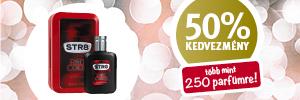 50% kedvezmény több mint 250 parfümre!