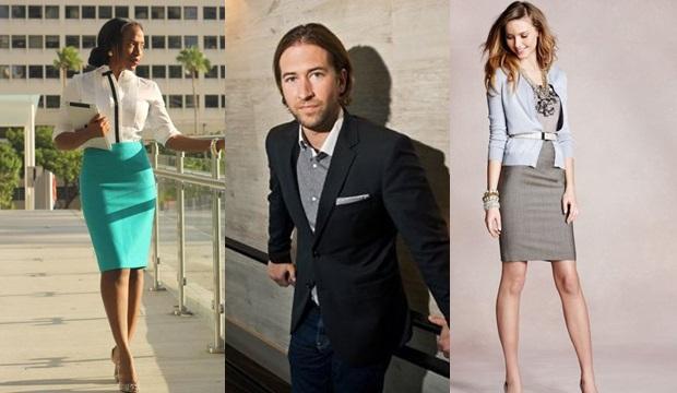 f66d96978f A nők bátran választhatnak szoknyát, lezserebb hosszú nadrágot, melyeket  kombinálhatnak inggel, kardigánnal, testhez simuló pulóverrel.