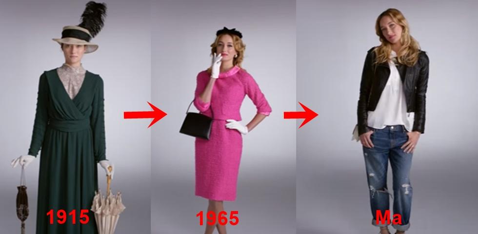 6a33ac3dda Videó: elképesztő, hogyan változott a női divat az elmúlt 100 évben ...