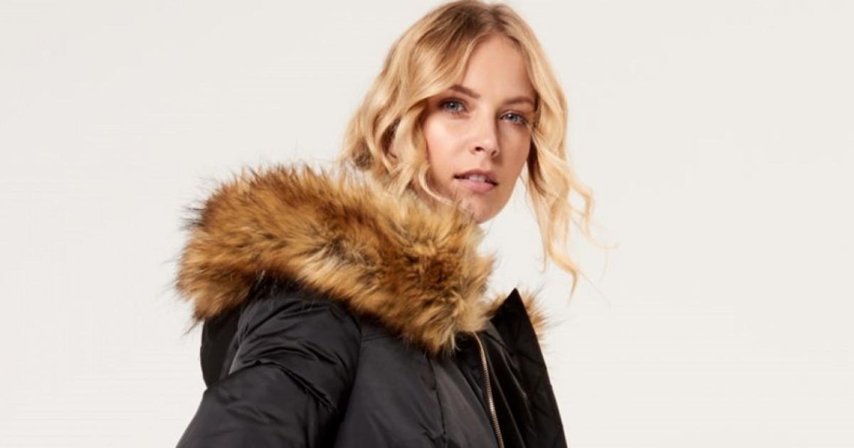 Steppelt kabát prémes kapucnival , MOHITO, RL066 99X