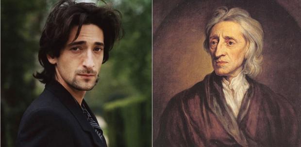 Adrien Brody kiköpött mása az angol filozófus, orvos és politikus John Locke-nak.