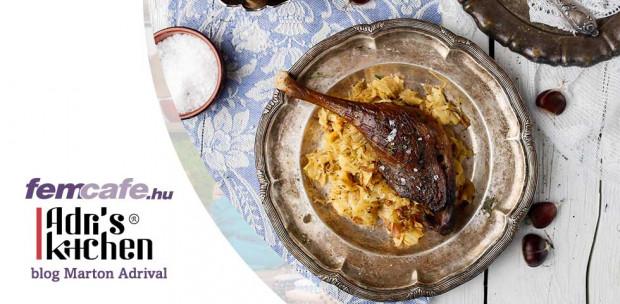 Konfitált libacomb, káposztás tésztával - nem csak Márton-napra!