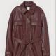 H&M Műbőr dzseki - Sötét vörösesbarna   17 995 Ft helyett 9 995 Ft (-44%)