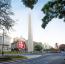 A sugárút egyik leglátványosabb része egy középen emelt 70 méteres obeliszk, ami Buenos Aires alapításának 400. évfordulójára készült.