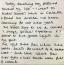 Egy részletet is lefotózott a levélből a rajongóknak az egykori komornyik.