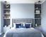 HÁLÓ - Nem véletlen, hogy egy korábbi kutatás végeredményéből kiderült, sokkal többet és jobban alszanak azok, akiknek kék a hálószobája. Ez a szín - ahogy említettük - a nyugalommal kapcsolható össze, ezért ebben a helyiségben nagy felületben gondolkodj!