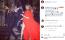 A Tokyo Hotel frontemberével, Tom Kaulitz-cal összeházasodó Heidi Klum is pirosban jelent meg.