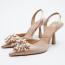 ZARA Shimmery mid-heel sling-back shoes 19 995 Ft