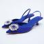 ZARA Blue mid-heel sling-back shoes 19 995 Ft