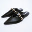 ZARA Pointed toe mules with studs 9,995 Ft