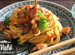 Citromos spagetti pirított csirkével: egyszerű főétel, különleges feltéttel