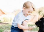 Friss fotókon Anglia szülinapos grimaszkirálya - György hercegről a palota posztolt cuki képeket