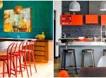 Vagány színkombinációk konyhába, amik megtöltik élettel a teret