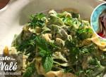 Paglia e fieno: Házi széna-szalma tészta, gorgonzolás sajtmártással