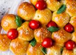 Sonkás-mozzarellás karácsonyfa bucik