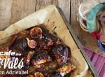 Pikáns csirkeszárnyak szilva barbecue-val