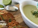 Lime-os, mascarpone krémes zöldbabfőzelék, stefánia szelettel
