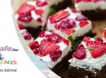 Málnás-túrókrémes brownie - ha egy könnyű és hűsítő desszertre vágytok