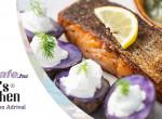 Lazac steak tormás-kapros uborkával - gyors és könnyű vacsora ötlet