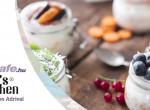 Görög joghurt müzli ágyon különböző ízekben