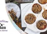 Mogyoróvajas meggydzsemes muffin
