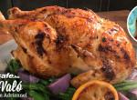 Omlós sült csirke zöldségágyon