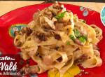 Tagliatelle tészta sajtos-diós mártással: az olasz ízek szerelmeseinek
