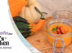 Mézes sárgarépa-krémleves sárgarépachipsszel