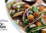 Citrusos-petrezselymes pulykafasírtos taco