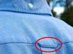 Ezért van egy apró hurok a legtöbb férfi ing hátulján