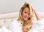 Zimány Linda szexi fehérneműben villantott kockás hasat