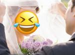 Sírva nevetett a menyasszony, amikor meglátta a vőlegényét az esküvőn