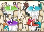 Melyik asztalhoz NEM ülnél le? Sok mindent elárul rólad
