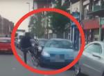 Majdnem elgázolta a bringást, horrorba illő, ami utána történt - videó
