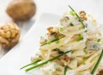 Sajtos tészta, ahogy a séf készíti:Triplasajtos diós spagetti