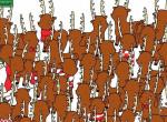 Ez nem lesz könnyű: Találd meg a medvét a szarvasok között