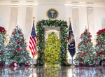 Idén se lett túl ízléses a Fehér Ház karácsonyi dekorációja - videó