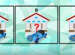 Csak a legokosabbak tudják megoldani: melyik garázsban van az autó?