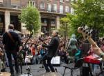 Mácsai Pál rockzenekarral és rengeteg gimnazistával ünnepelte a Költészet napját