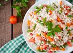Egy igazi pénztárcakímélő, diétás ebédötlet: Zöldséges rizssaláta