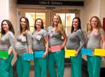 Ez hogy lehet? 9 ápolónő is gyermeket vár egy amerikai kórházban