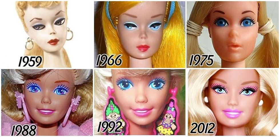 Ritka fotók: Így változott a Barbie baba az elmúlt 58 évben