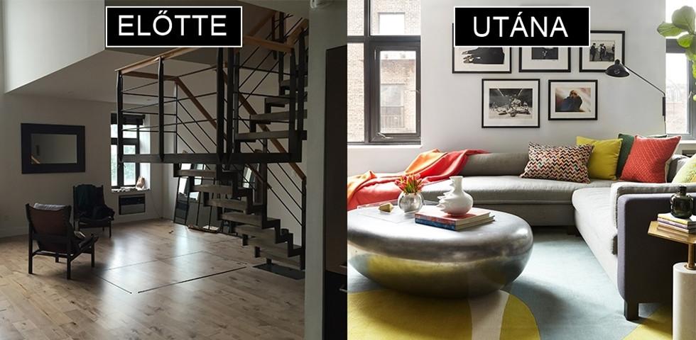 Átlagosból fényűző: előtte-utána fotók egy csodás lakásfelújításról